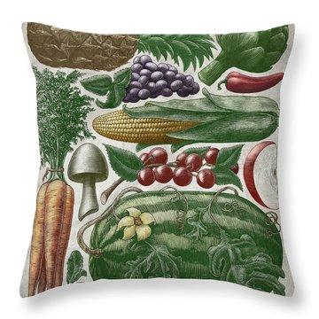 Farmer's Market - Color Throw Pillow
