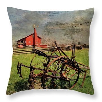 Farming In The 1880s Throw Pillow