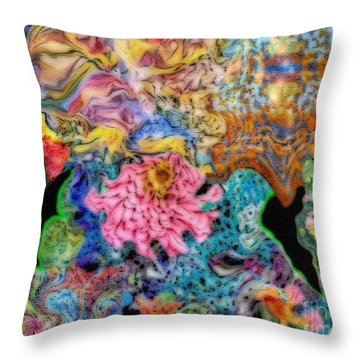 Fascinating Color Throw Pillow