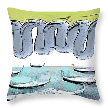 Fat Clouds At Night Throw Pillow
