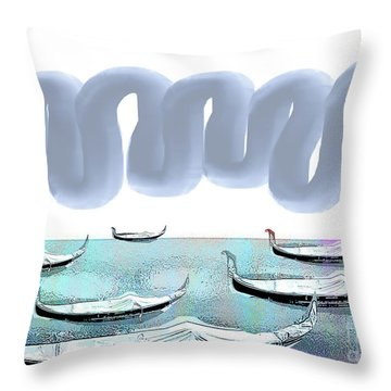Fat Clouds  Throw Pillow