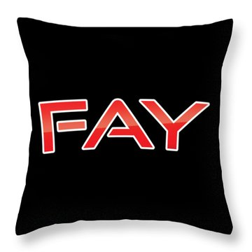 Throw Pillow featuring the digital art Fay by TintoDesigns