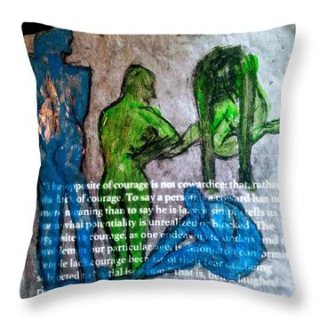 Fear Of The Inexplicable Throw Pillow