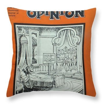 Throw Pillow featuring the painting Feb1948 Dublin Opinion by Val Byrne