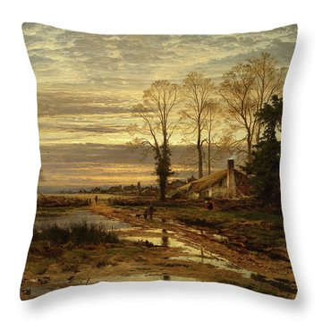 February Fill Dyke Throw Pillow