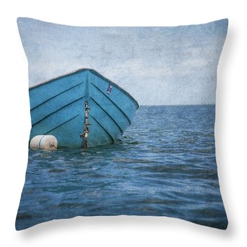 Feel The Blues Throw Pillow