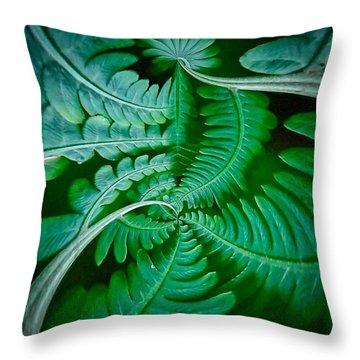 Fern Dance Throw Pillow