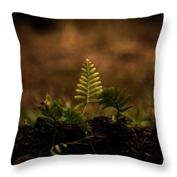 Fern Of Life Throw Pillow