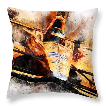 Fernando Alonso, Indy 500 - 04 Throw Pillow
