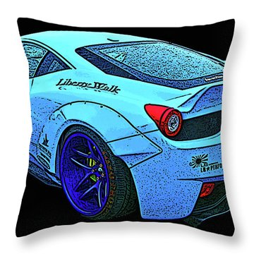 Ferrari 458 Liberty Walk Throw Pillow