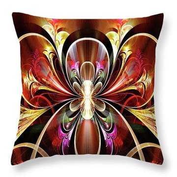 Throw Pillow featuring the digital art Festival by Missy Gainer
