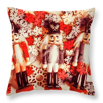 Festive Forces Throw Pillow