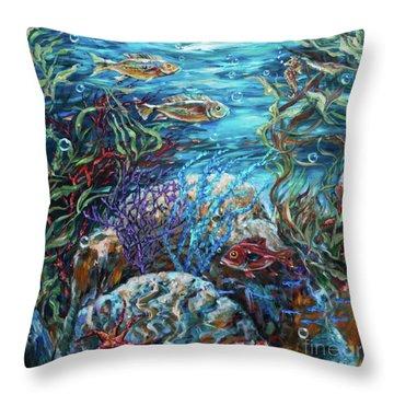 Festive Reef Throw Pillow