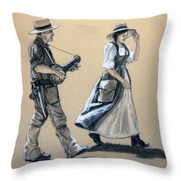 Fiddler's Daughter Throw Pillow