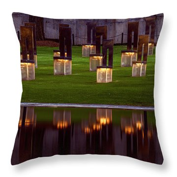 Field Of Empty Chairs Throw Pillow