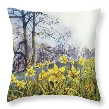 Field Of Hope At Burton Agnes Throw Pillow