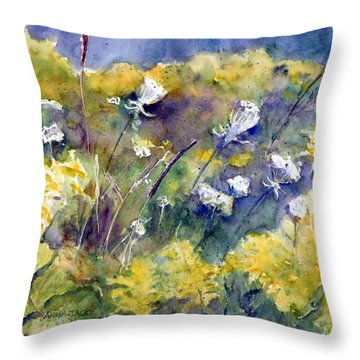 Fields Of White And Gold Throw Pillow