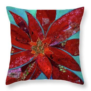 Fiery Bromeliad II Throw Pillow