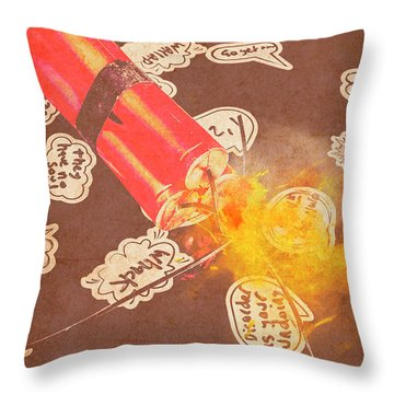 Fiery Fuse Throw Pillow
