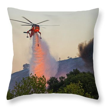 Throw Pillow featuring the photograph Fighting Fire With Fire by Lynn Bauer