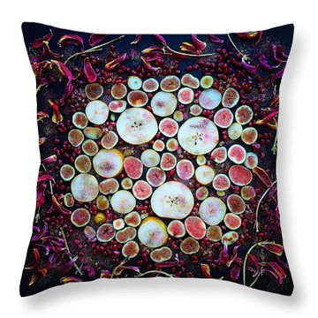 Figs Pears And Pomegranates Throw Pillow