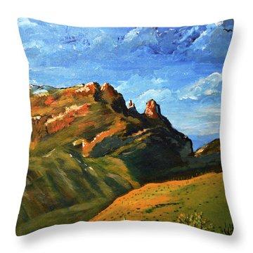 Finger Rock Splendor  Throw Pillow