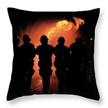 Fire Dragon Throw Pillow