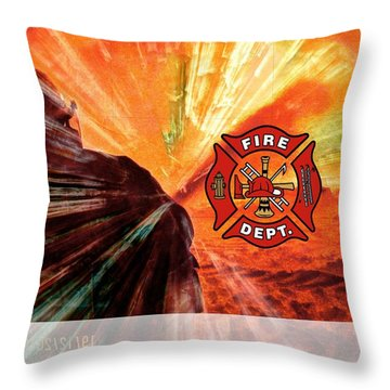 Fire Fighting 1 Throw Pillow