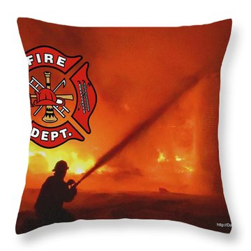 Fire Fighting 5 Throw Pillow