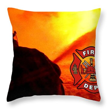 Fire Fighting 6 Throw Pillow