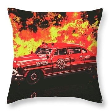 Fire Hornet Throw Pillow