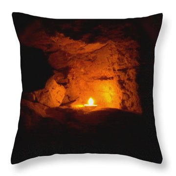 Throw Pillow featuring the photograph Fire Inside by Lucia Sirna
