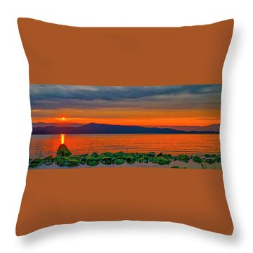 Fire Rock Throw Pillow