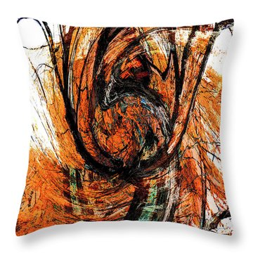 Throw Pillow featuring the photograph Fire Tree 2 by Michael Arend