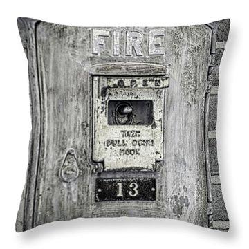 Firebox Throw Pillow