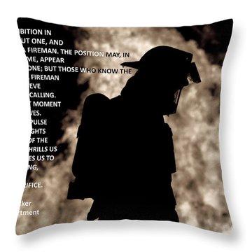 Firefighter Poem Throw Pillow