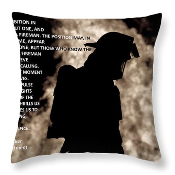 Firefighter Poem Throw Pillow