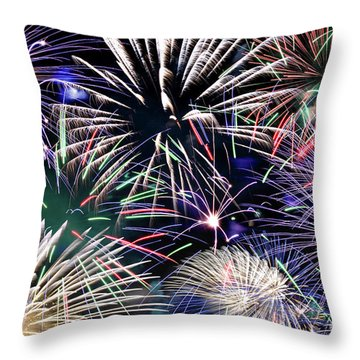Fireworks Grand Finale Throw Pillow
