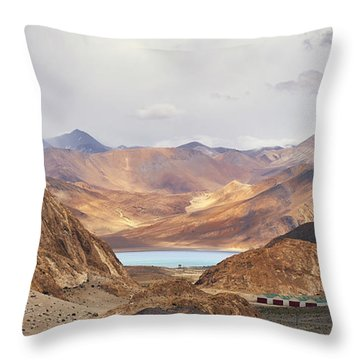 Throw Pillow featuring the photograph First Glimpse by Whitney Goodey