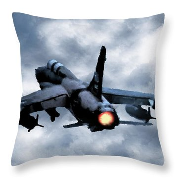 First In Last Out Throw Pillow