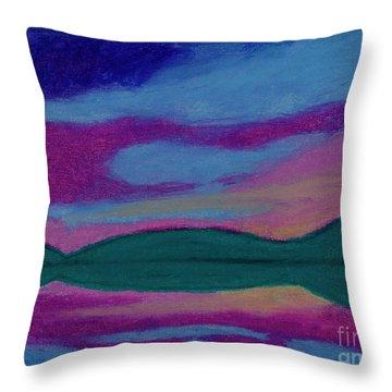 First Light Abstract Throw Pillow