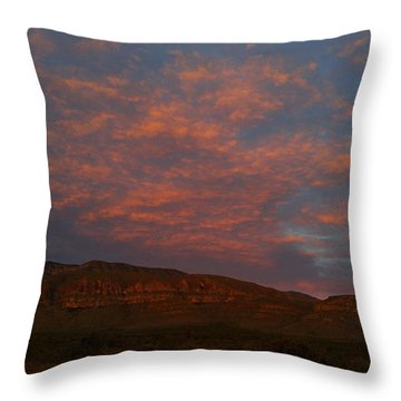 First Light Over Texas 3 Throw Pillow