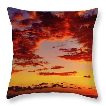 First November Sunset Throw Pillow