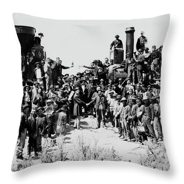 First Opening Of The Transcontinental Railroad - 1869 Throw Pillow