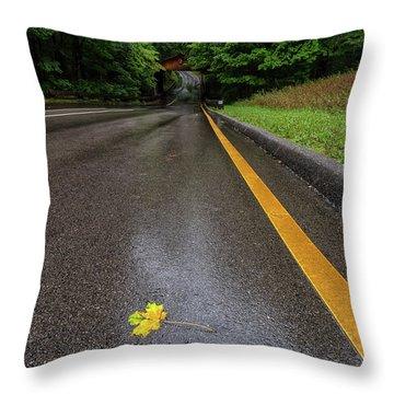 First Sign Of Autumn Throw Pillow