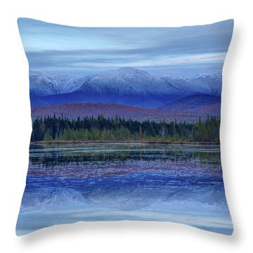 First Snow From Cherry Pond Throw Pillow