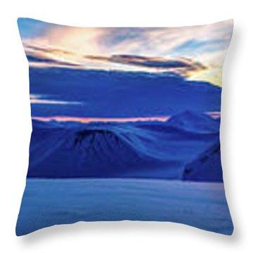 First Sun After Polar Night Throw Pillow