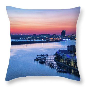 Firstlight Over Clearwater Throw Pillow