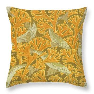Fish And Seaweed Throw Pillow