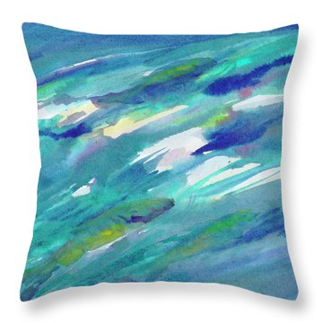 Throw Pillow featuring the painting Fish In Water by Dobrotsvet Art
